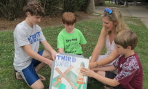 Outdoor Way of the Cross at St. Pius X geared to children, families