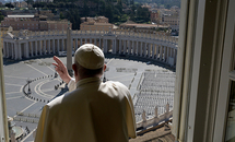 Pope Francis entrusts world threatened by coronavirus pandemic to Blessed Mother