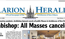 Clarion Herald print copies still delivered; e-edition always available