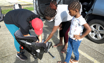 Free child car-seat safety guidance available weekly