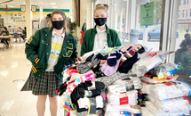Cabrini sock drive nets 700 pairs for Covenant House