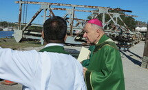 Abp. Aymond to people of Lafitte: Jesus is with you as you carry the 'cross of Ida'
