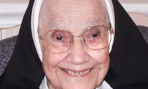 Sister Mary Angela Bergeron, CIC, dies Jan. 2 at 105