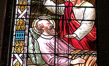 St. Joseph in stained glass