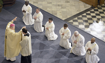 Abp. Aymond to new priests: Walk with your people like Jesus the Good Shepherd