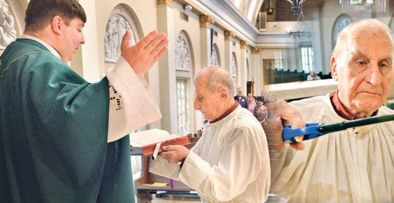 At 94, St. Joseph altar 'boy' can genuflect like a kid