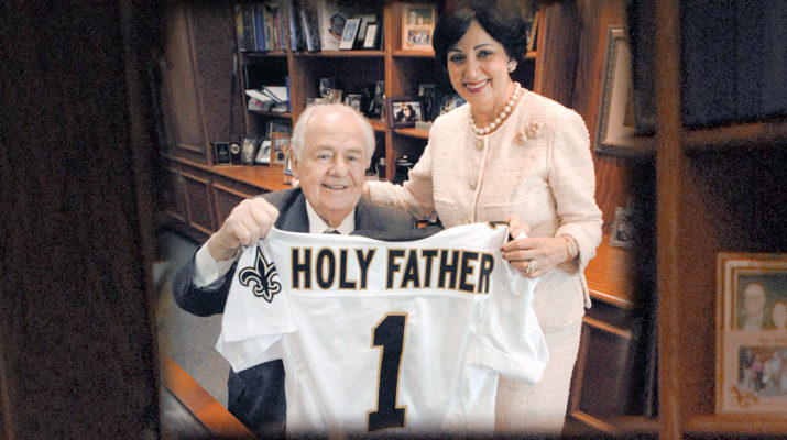 In tough times, Tom Benson 'soldiered on' in faith