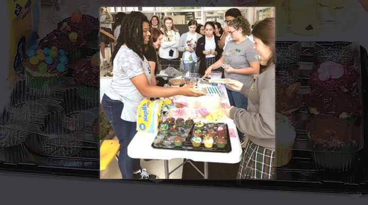 Cabrini High sponsors bake sale, takes up collections to aid Hurricane Dorian victims