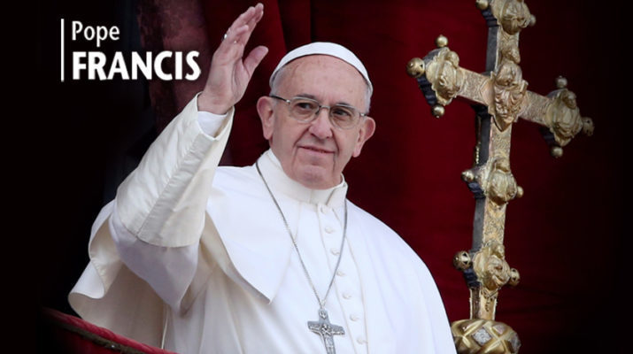 Pope: It's me, O Lord, standing in the need of prayer