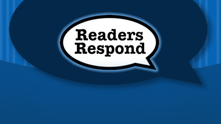 Readers Respond - March 31, 2018