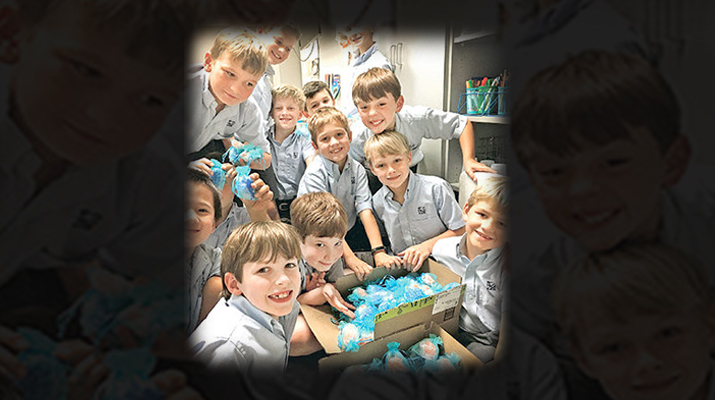Stuart Hall third graders address rosary shortage
