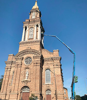 St. John the Baptist Church, New Orleans, gets elevated waterproofing maintenance