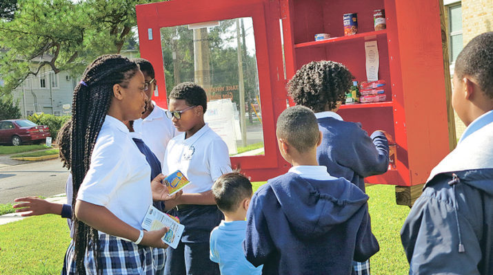 Feeding the hungry is a habit at St. Rita School, N.O.