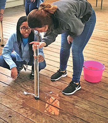 Water experiments conducted by AOL students at Jean Lafitte Park