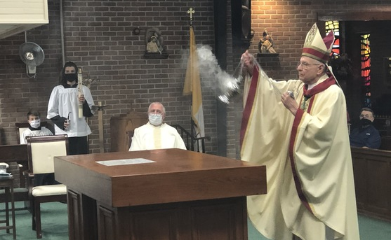 Abp. Aymond reconsecrates Sts. Peter and Paul Church in Pearl River
