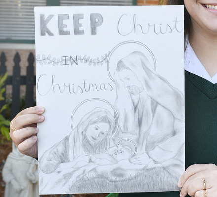 Student artists shine in Keep Christ in Christmas contest