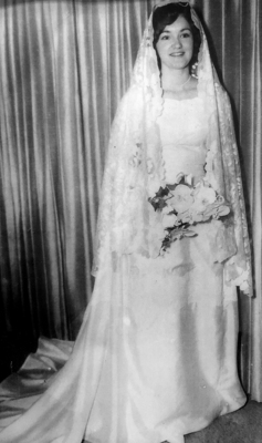1957 silk wedding dress has ironclad staying power