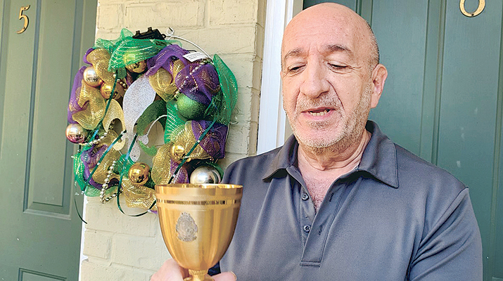 "Watch the video! Msgr. Doskey's ""Endymion Cup"" runeth over"