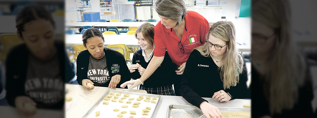 Cabrini students learn the sacred behind the dough