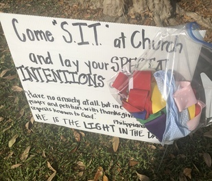 St. Charles Borromeo hopes prayer ribbons will start 'blooming' on trees outside churches