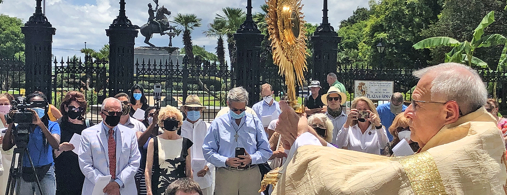 Eucharistic procession was public witness to faith