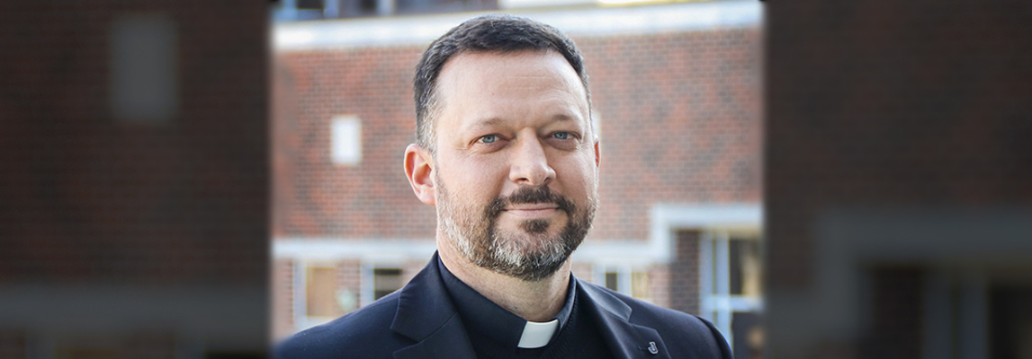 Father Brown is interim president of Jesuit