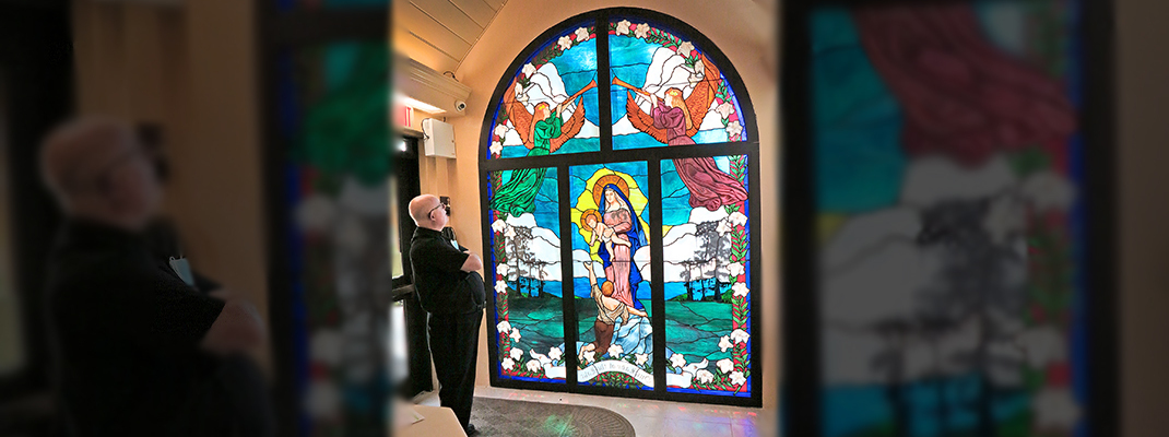 Our Lady of the Lake window reflects hope