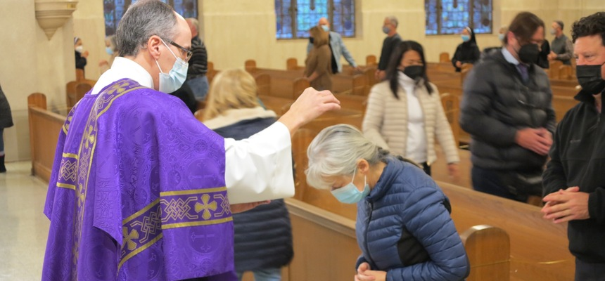 With COVID safety first, ashes sprinkled or imposed on Ash Wednesday
