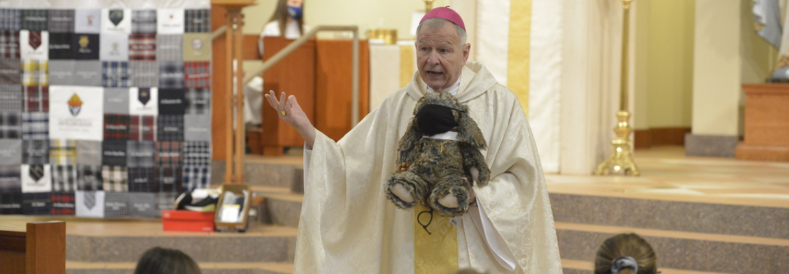 Stuffed rabbit was child's way of reminding archbishop he's not alone