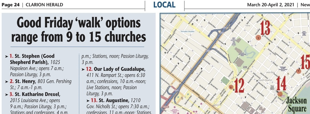 Good Friday '9-church walk' map and options