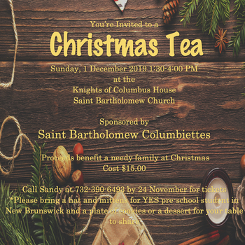 Christmas Tea - Columbiettes - Knights of Columbus House