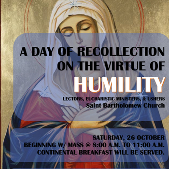 Day of Recollection for Readers, EMs, Ushers