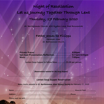 Night of Recollection - Altar Rosary Society