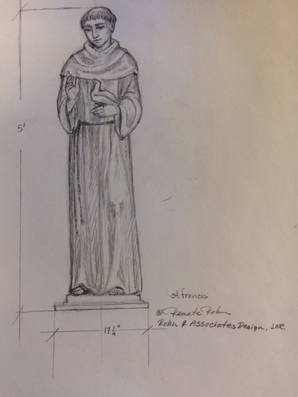 St. Francis - new statue to match existing ones.
