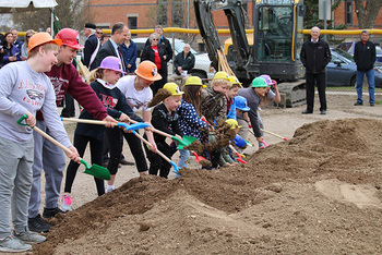 St. John's Academy in Jamestown Breaks Ground for Addition, Renovation.