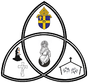 Diocesan Coat of Arms, images representing the Jesus, the faithful, religious sisters and permanent deacons