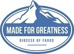 Made for Greatness motto, with a mountain peak in the background