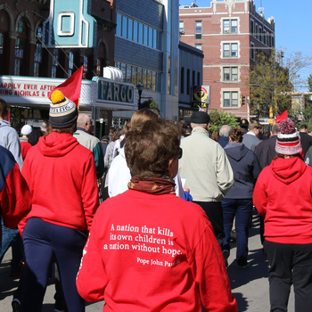 Bishop urges prayer for conversion of hearts at annual Walk with Christ for Life