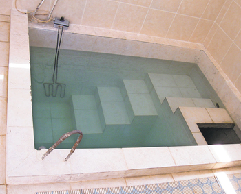 Reminder of original mikvah prompts pondering