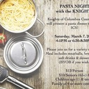 PASTA Night with the Knights two seatings