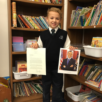 ICS student receives letter from President Obama