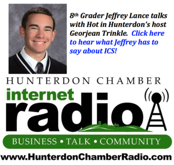 8th Grader talks with Hot in Hunterdon