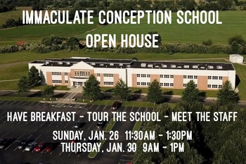 CATHOLIC SCHOOLS WEEK Immaculate Conception School Open House
