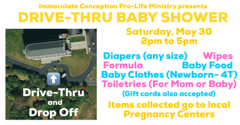 Drive-Thru Collection for Moms & Babies in need