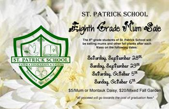 8th Grade Mum Sale After All Masses