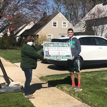 A Car Parade for Patrick Connors ('20) - HTHS Valedictorian!