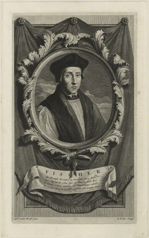 John Fisher by Gerard Valck, after Adriaen van der Werff, line engraving, published 1697 accessed May 28, 2019 from https://commons.wikimedia.org