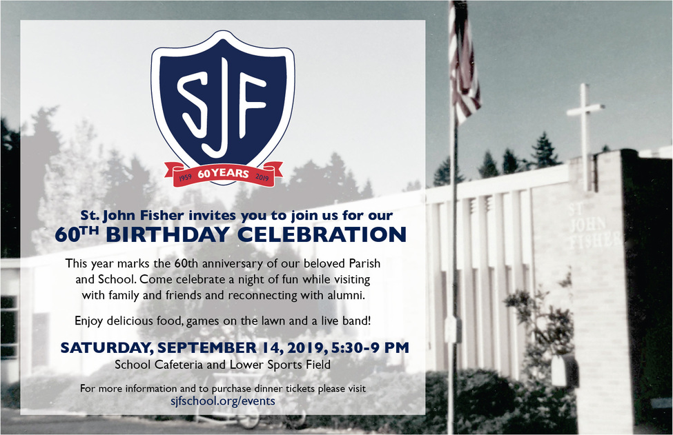 60th birthday celebration Sept 14, 2019 5:30-9pm