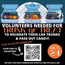 Volunteers Needed for Trunk or Treat on Oct. 24