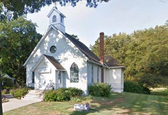 Original church, now the Chapel, at 6 Eglantine Ave.